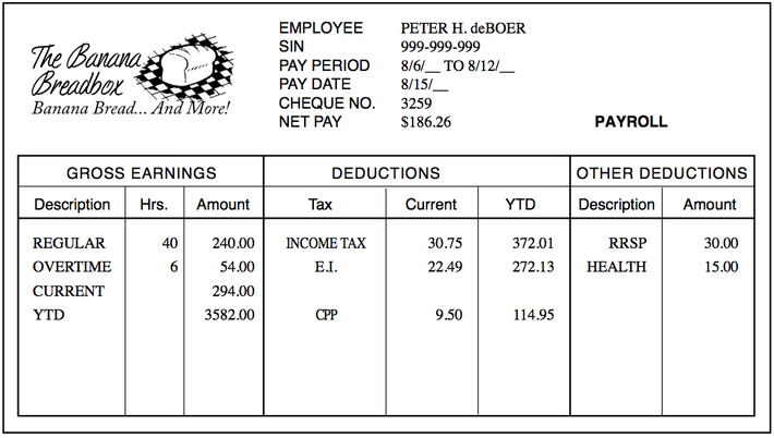 Pay Stub Canada >> Paycheques and Bank Accounts - Independent Living